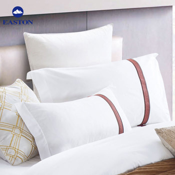 White Duck Pillow Set Waterproof Featherproof Pillow Protector In 300tc 100 Cotton Pillow Cover For Hotel Buy Hotel White Pillow Hotel Cotton