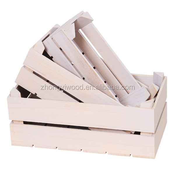 FSC eco-friendly handmade pine cheap wooden orange crates