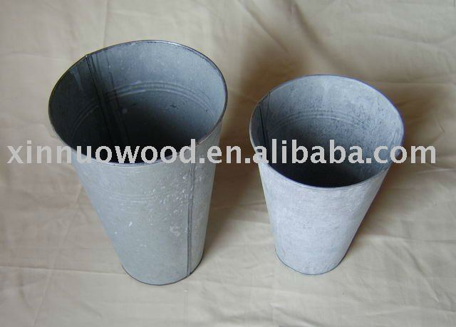 s/2 metal flower pots/zinc garden bucket