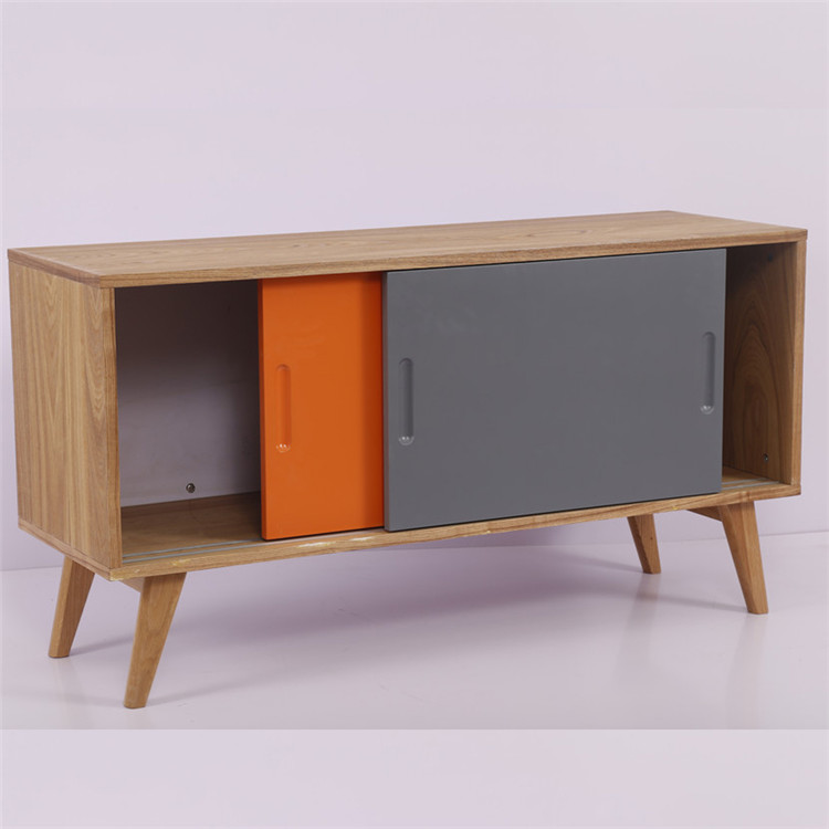 2 compartment industrial teak flat pack sideboard for dining room furniture
