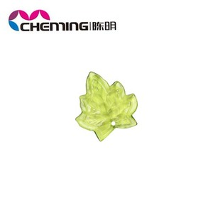 2014 new design mixed color crystal maple leaf plastic bead