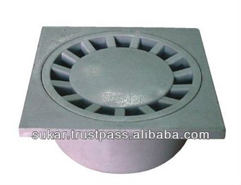 Outdoor And Garden Floor Drain With Mud Tray Bottom Outlet