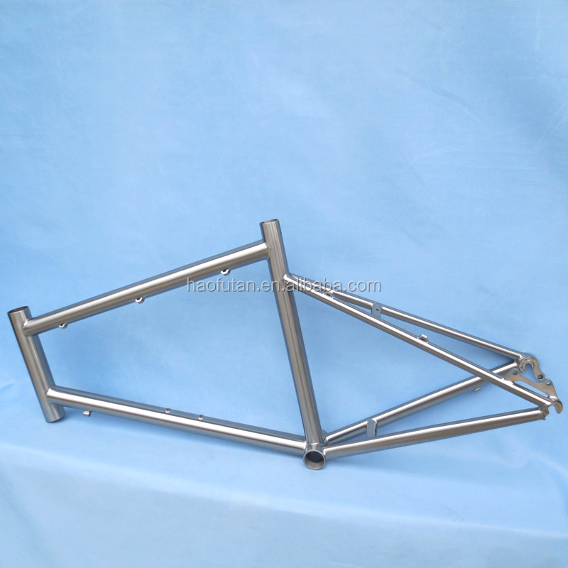 China cheap 20 inch titanium bicycle <strong>frame</strong> TT <strong>Frame</strong> Titanium bike <strong>frame</strong> HFT-T1637