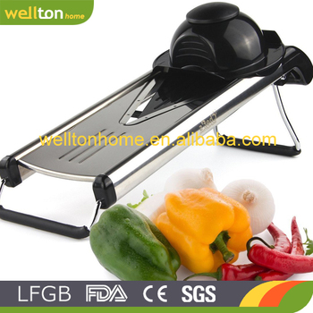 V Blade Stainless Steel Mandoline Slicer - Fruit and Food Slicer, Vegetable Cutter, Cheese Grater - Vegetable Julienne Slicer wi