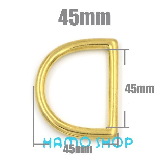 64f855967a827 2pcs 45mm Metal D Rings Buckle Seamless Brass Hook Loop Strap Webbing  Shackle Backpack - us525