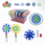colorful two styles snowflake spinning toy candy