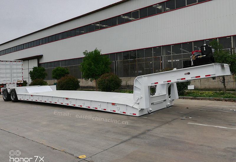 Lowbed thấp loader trailer cho bán malaysia Với ISO9001