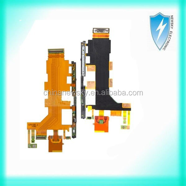 High quality Power Volume cable for Sony z3 mini Microphone Flex Cable