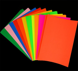 Glossy A4 size self adhesive sticker 80gsm A4 coloured copy paper Labels