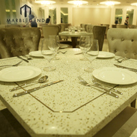cheap price custom new design artificial quartz stone dining table top