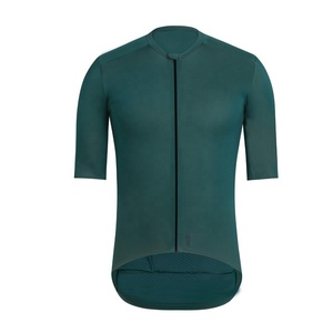 Dark Green Top Quality Pro Team Aero Cycling Jerseys Short Sleeve Bicycle Gear Race Fit Cut Fast Speed Road Bicycle Jersey