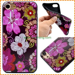 Colourful Printed TPU Gel Silicone flowers butterfly case for Iphone 7 plus