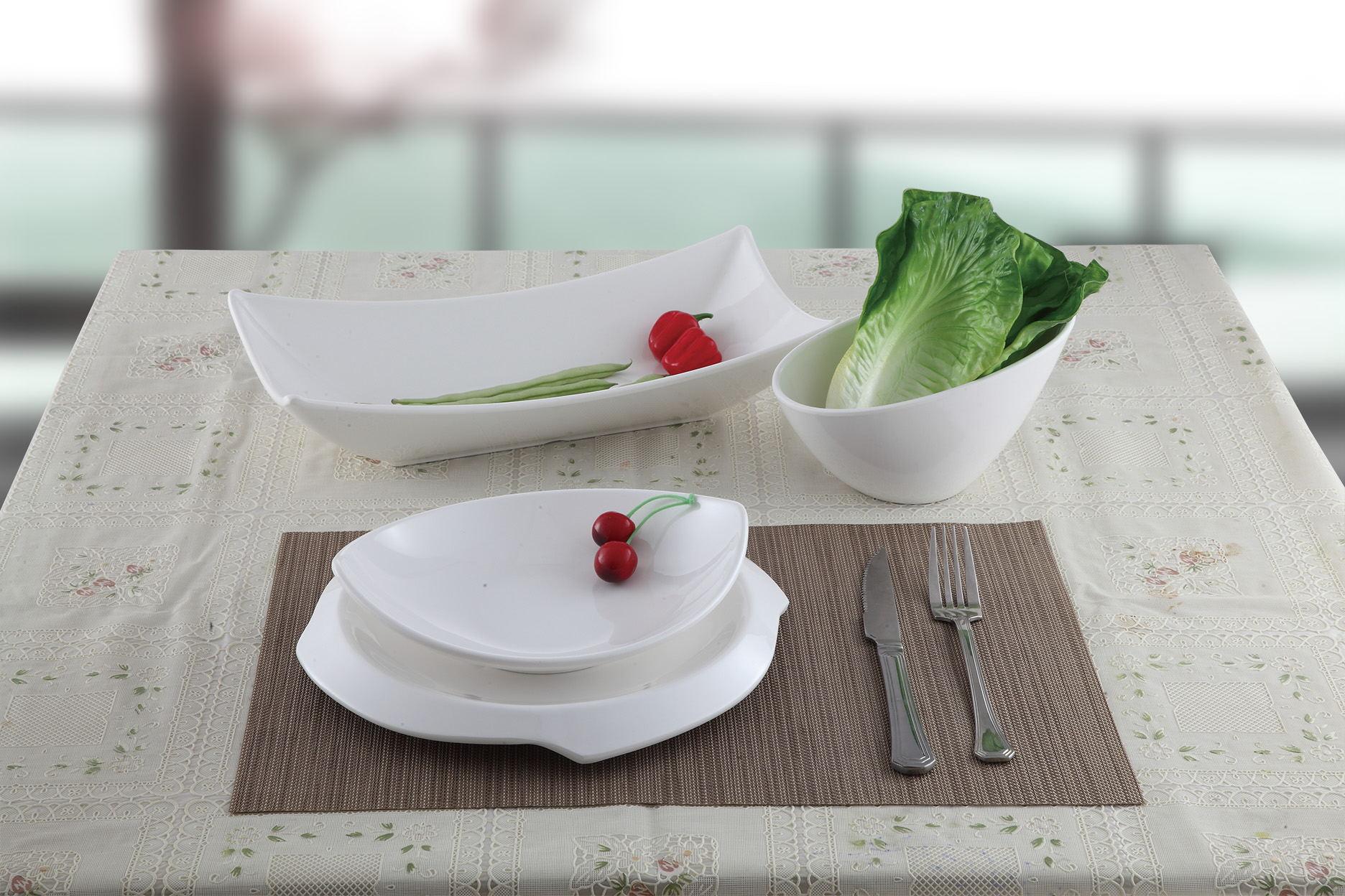 Eco Friendly 100 Melamine Boat Shape Dish High Grade