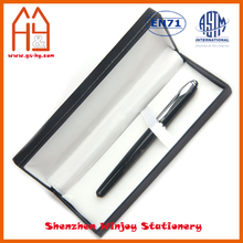 Custom brand office stationery metal ball pen in gift paper box