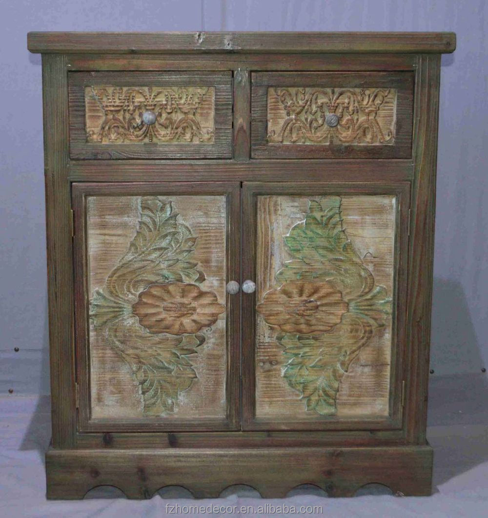 Wholesale Rustic Reclaimed Vintage Wood Furniture With Storage Cabinet Function Buy Reclaimed