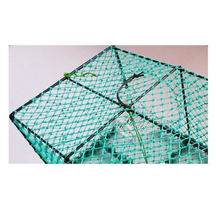 Pe rectangle fish trap crab trap net crab pot buy trap for Fish trap net