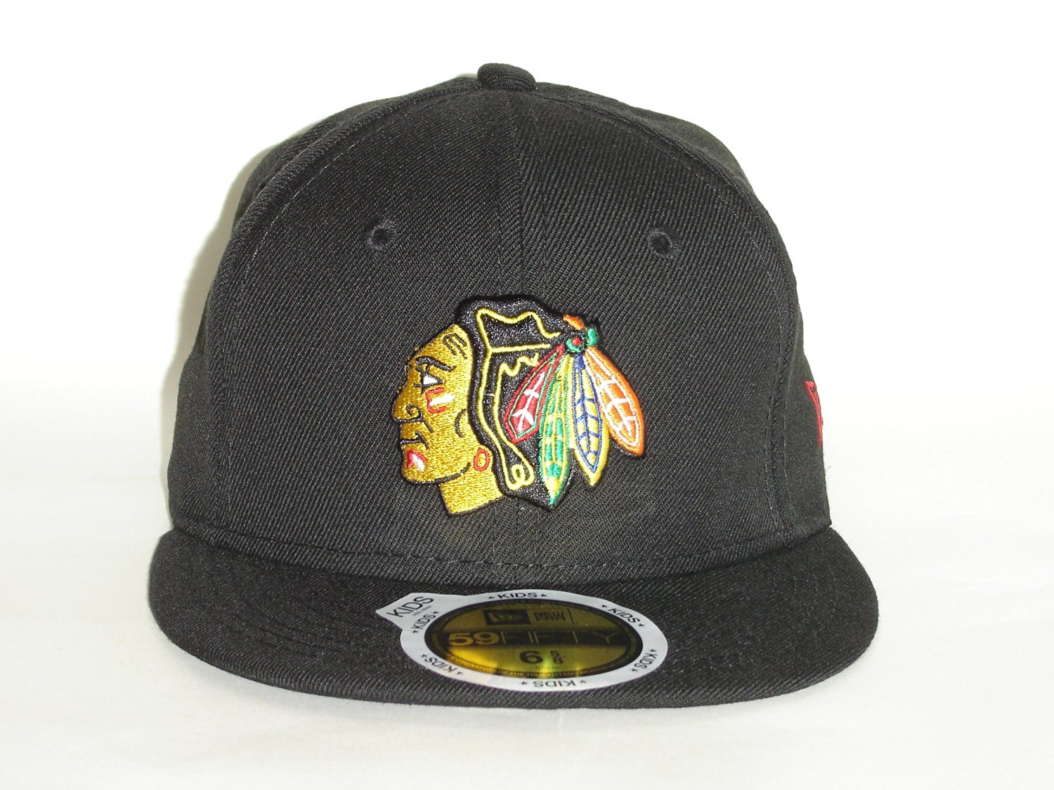 f28e7016 ... usa get quotations new era 59fifty nhl chicago blackhawks 1tone black  youth jr fitted a2227 82e8c