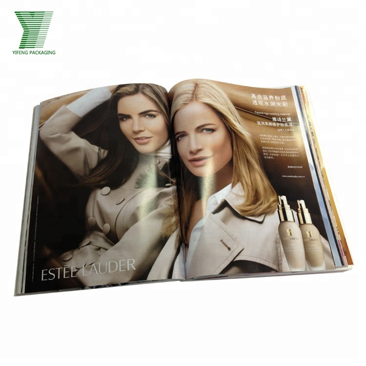 Hot sale paper brochure flyer leaflet booklet fashion magazine book printing