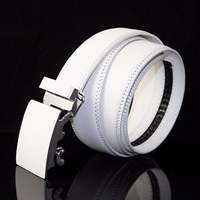 High Quality 2016 New Casual 100% Genuine Leather Mens Belts Automatic Buckle Classic White Leather Belt Men