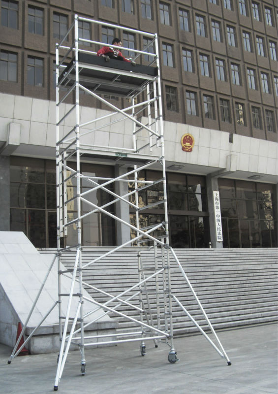 Portable Scaffolding With Wheels : מערכת פיגומים נייד עם גלגל לצייד scaffoldings מספר זיהוי