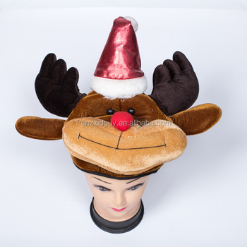 af445e2f5456a Wholesale Christmas Funny Animal Deer Party Hat Fgh-1156 - Buy ...