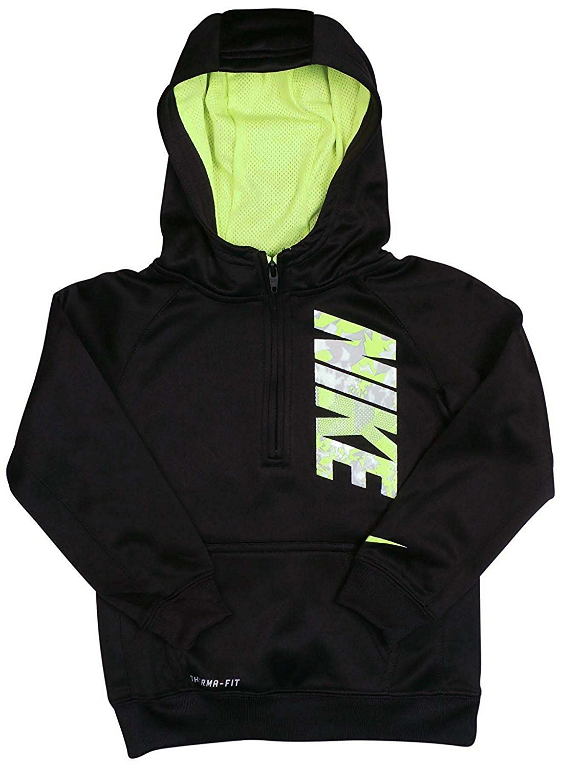 9dd170e9e297 Get Quotations · Nike Little Boy s Black Fleece Lined Therma-fit Pullover  Hoodie