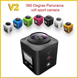 2016 newest 360 degree panoview sport action camera Fish-eye build in wifi  sport cam hd 1080 wifi video camera V2