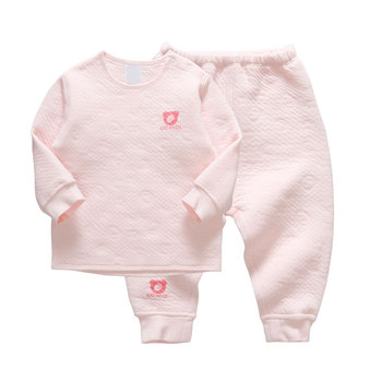 2 pcs long sleeve pajamas wholesale  baby winter clothes