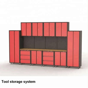 Modular combination metal storage tool cabinets stainless steel garage system