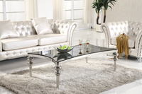 Wholesale high quality stainless steel glass tea table design CT016
