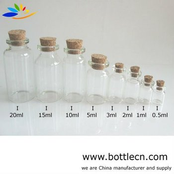 Wholesale Clear 4040ml Glass Bottle With Cork Stopper Buy Clear New Small Decorative Bottles Wholesale