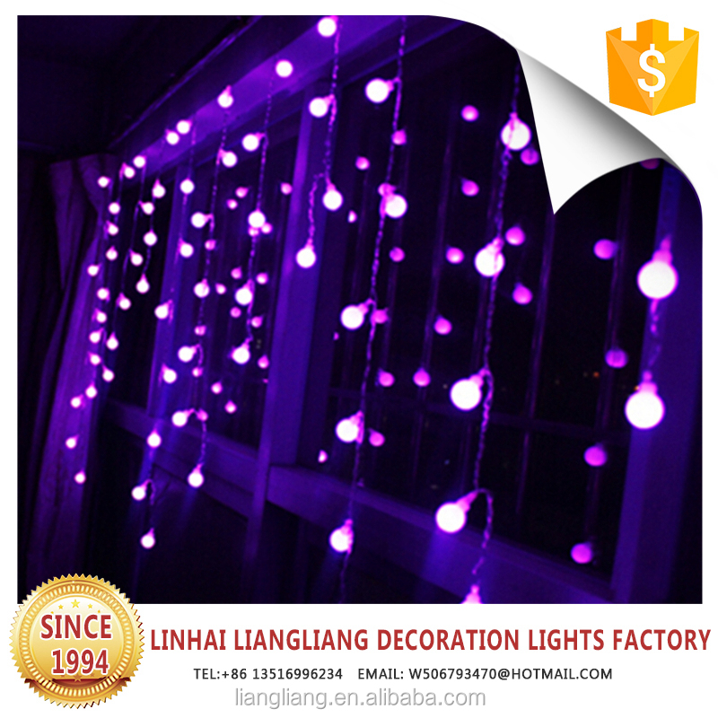 6m X 3m LED Christmas wedding decoration light curtain for outdoor