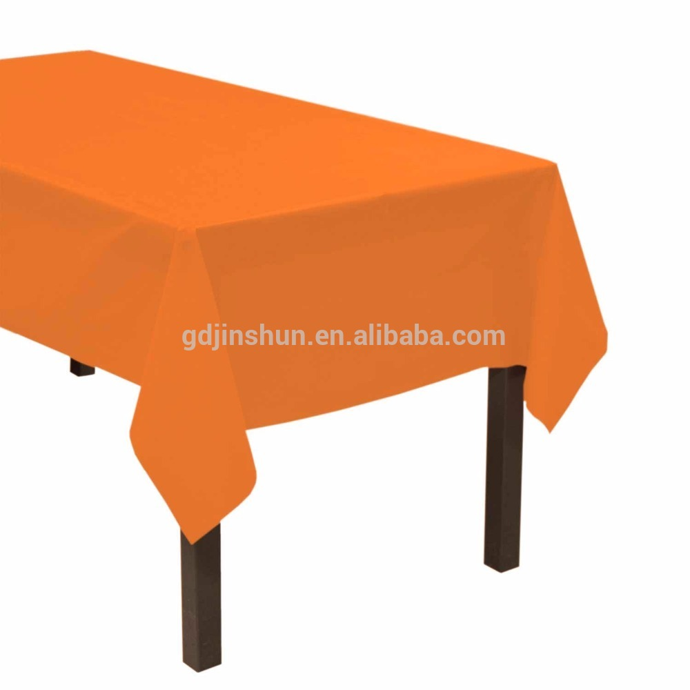 Polyester 54 x 108 Inch Rectangular Tablecloth Orange