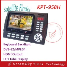 HD Satellite Finder KPT-958H 4.3Inch Protable MPEG-4 DVB-S/S2 Satellite Finder Meter Digital DVB-S/S2 Sat Finder KPT 958H