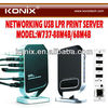 Networking 4 Port USB 2.0 Print Server - Share 4 USB Devices