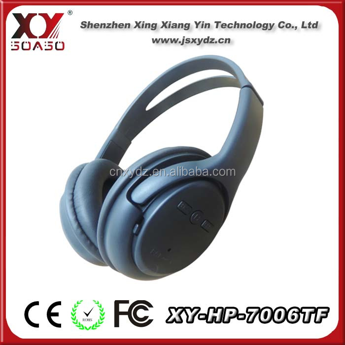 wireless fm radio mp3 sd card headphone headset, wireless MP3 headphone with memory card