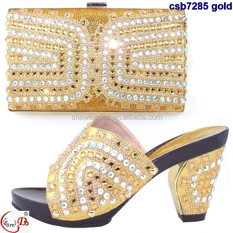 shoes bag party fashion Quality and Wedding ladies stock Top bag ladies shoes Middle and african shoes and heel in bag qxtwxXnB
