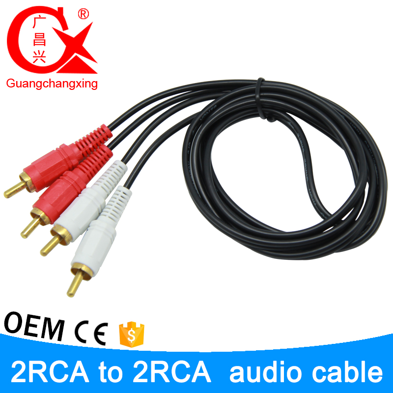 Super good 5m smartphone female male av audio 2 RCA to 2RCA av aux cable