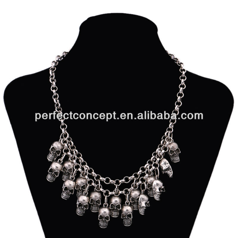 Fashion Necklace Metal Skulls Chain Jewlry