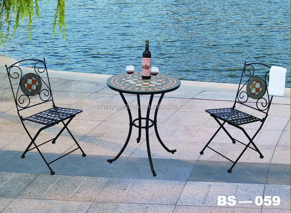 Mosaik 3 Stück Bistro Set Mosaik Tisch Stuhl Set Buy