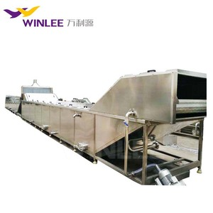 Steam heating jelly pasteurizing and cooling machine