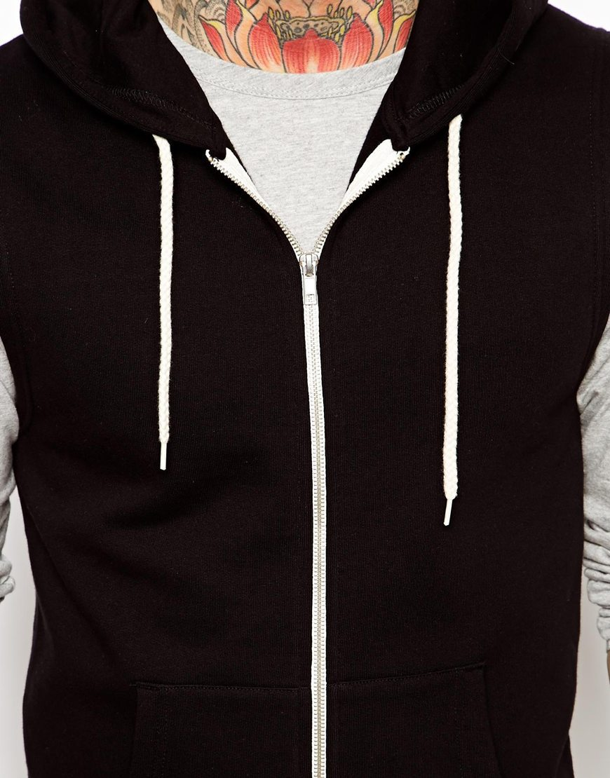 Sleeveless Hoodie Zip Up Sleeveless Zip Hoodie For Men - Buy ...