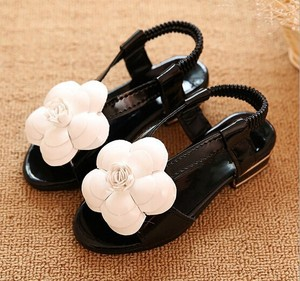 D70857H 2015 summer new shoes wholesale Korean children sandals with flower for girls