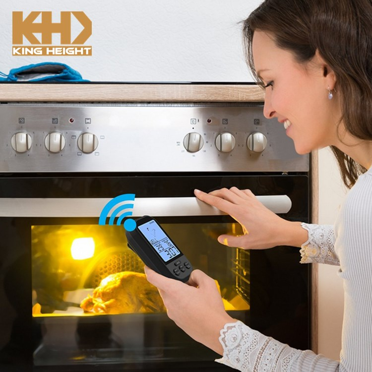 KH-0006 Digital Wireless Kitchen Oven Food Cooking BBQ Grill Meat Thermometer With Sensor Probe Temperature