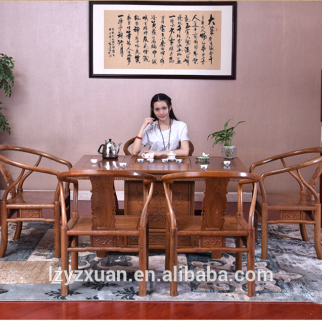 2016 New design the root carved wooden tea table