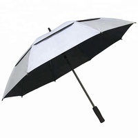 "27"" Auto Open High Quality Promotional Gifts Silver Top UV Protective Golf Umbrella"