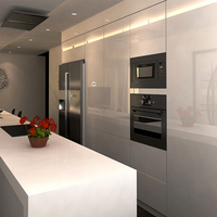 Flat Pack Kitchen Cabinet Designs White Gloss Kitchen Set Modern Kitchen Cabinet