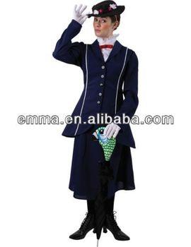 Poppins Niñera Bw921 traje Poppins Vestido Buy Traje Adulto Deluxe Mary De Elegante Edwardian Mujer HYE29IeWD