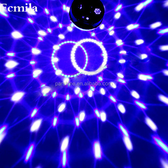 Family Small Stage Digital RGB LED Crystal Magic Ball Effect Light Disco Hall DJ Lighting