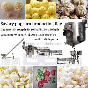 Hot Air Caramelized Mushroom Popcorn Production Plant From Jinan ...